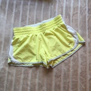 Nike Dri-Fit shorts yellow gray white size M